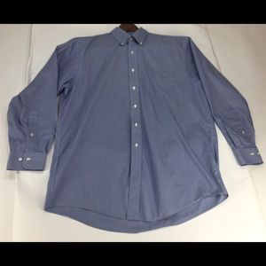 Brooks Brothers 346 Blue Dotted Long Sleeve 17/34